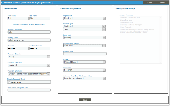 Example of Only Authenticating User Accounts Using LDAP